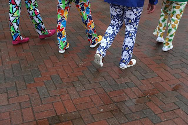 <p>Guys can express their wild style in wild pants just as well as in hats and coats. (Photo: Getty Images) </p>