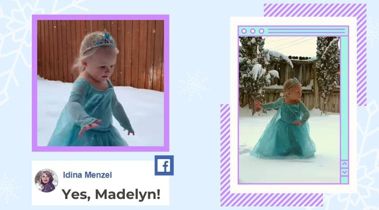 frozen, frozen let it go, toddler frozen dance, texas girl frozen dance, baby girl elsa dance, viral videos, kids frozen viral videos, indian express