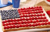 """<p>Here's another patriotic pizza recipe, but this <a href=""""https://www.thedailymeal.com/cook/nostalgic-childhood-desserts?referrer=yahoo&category=beauty_food&include_utm=1&utm_medium=referral&utm_source=yahoo&utm_campaign=feed"""" rel=""""nofollow noopener"""" target=""""_blank"""" data-ylk=""""slk:nostalgic dessert"""" class=""""link rapid-noclick-resp"""">nostalgic dessert</a> starts with thin-crust pizza dough and gets some star-spangled style with the toppings.</p> <p><a href=""""https://www.thedailymeal.com/recipes/red-white-and-blue-dessert-pizza-recipe?referrer=yahoo&category=beauty_food&include_utm=1&utm_medium=referral&utm_source=yahoo&utm_campaign=feed"""" rel=""""nofollow noopener"""" target=""""_blank"""" data-ylk=""""slk:For the Red, White and Blue Dessert Fruit Pizza recipe, click here."""" class=""""link rapid-noclick-resp"""">For the Red, White and Blue Dessert Fruit Pizza recipe, click here.</a></p>"""