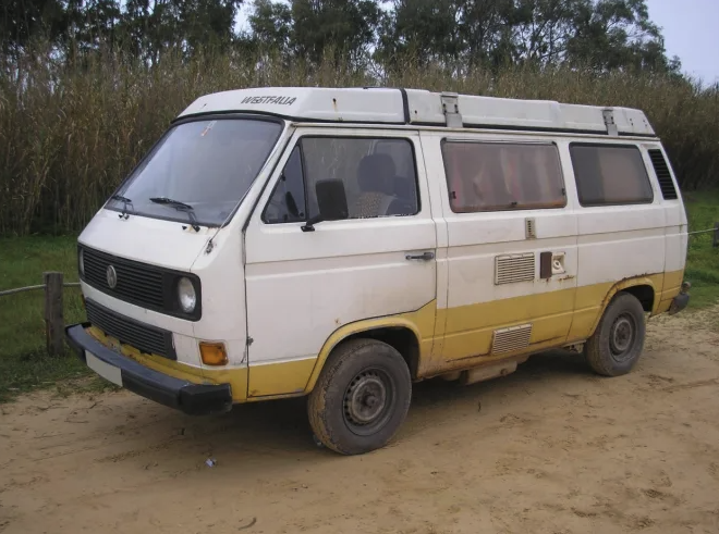 The VW campervan the man is understood to have driven around Portugal. Source: Met Police