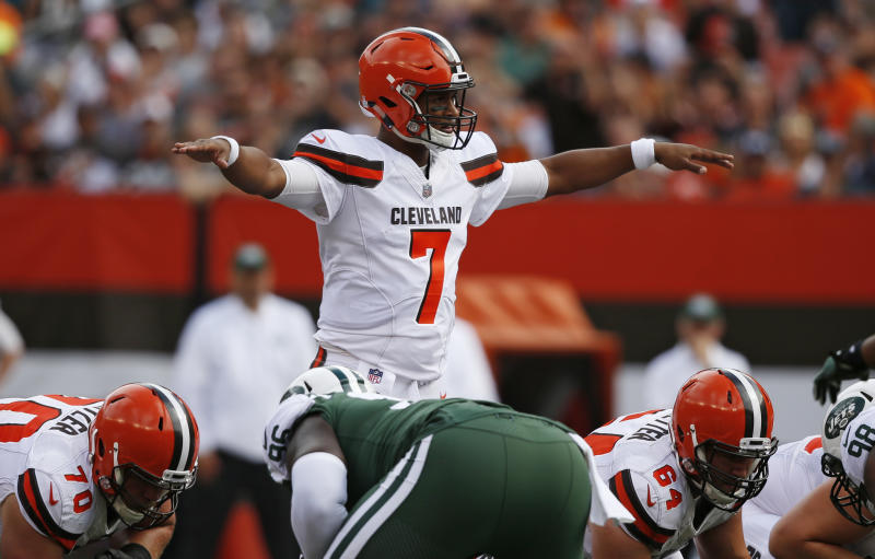 Cleveland Browns quarterback DeShone Kizer didn't start the second half of the team's Week 5 game. (AP)