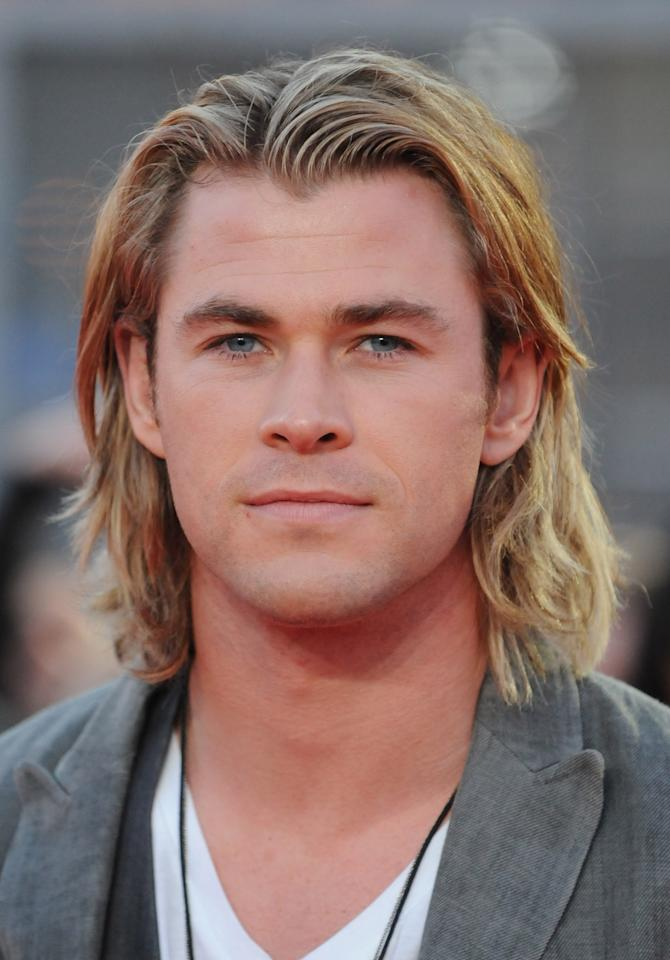 LONDON, UNITED KINGDOM - MARCH 14: Chris Hemsworth attends the European premiere of The Hunger Games at O2 Arena on March 14, 2012 in London, England. (Photo by Stuart Wilson/Getty Images)
