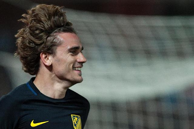 """""""I see us as favourites. I believe in my teammates and the coach,"""" said Atletico Madrid's French forward Antoine Griezmann (AFP Photo/JORGE GUERRERO)"""
