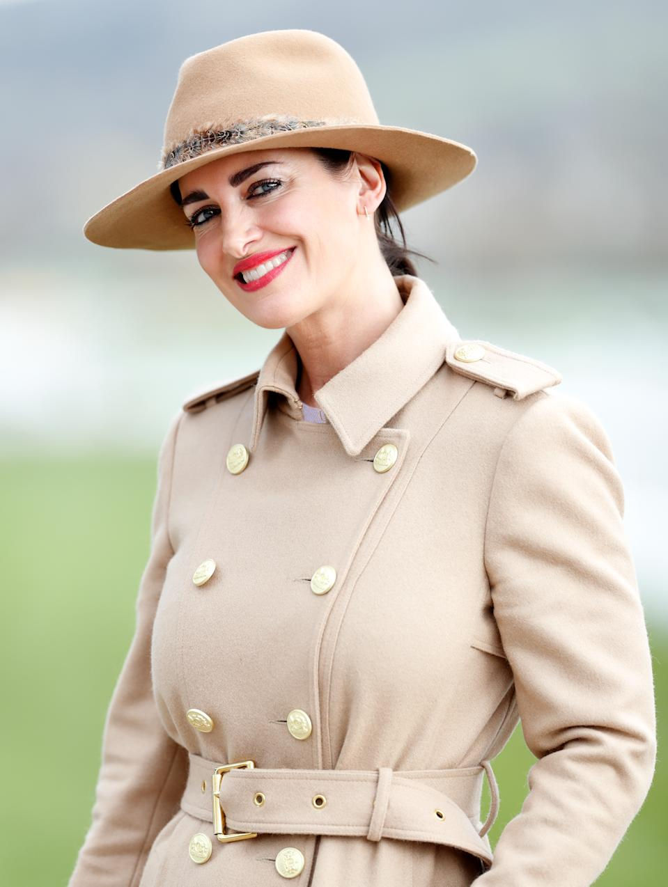 Kirsty Gallacher attends day 4 'Gold Cup Day' of the Cheltenham Festival 2020 at Cheltenham Racecourse on March 13, 2020 in Cheltenham, England. (Photo by Max Mumby/Indigo/Getty Images),