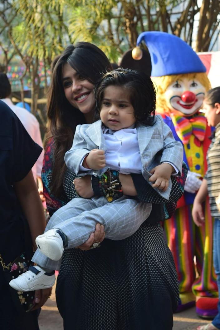 Ekta Kapoor with her son Ravie