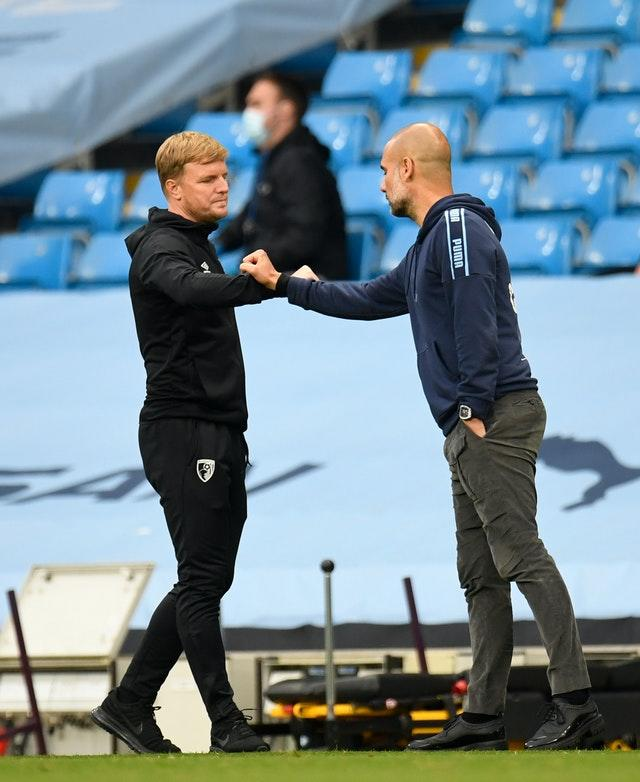 Eddie Howe, left, guided Bournemouth from League Two all the way up to the Premier League