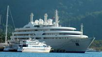 <p>This 457-foot yacht was built by Lurssen in 1999 with exterior and interior design from Terrance Disdale. <em>Al Salamah</em> is equipped to accommodate 40 guests and 96 crew members for the ultimate yachting experience. The boat features a gym, swimming pool and platform, beauty room, elevator, medical suite, and study spaces for both the owners and guests. </p>