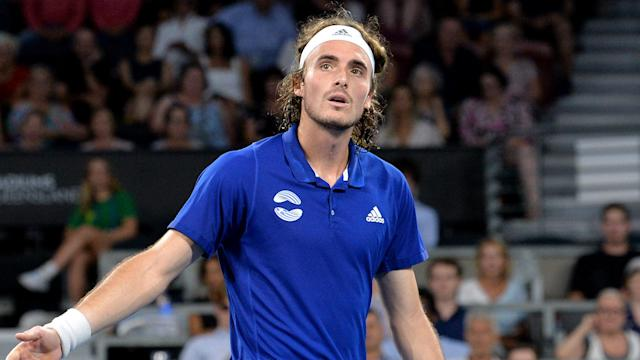 After hitting his father with his racket during an angry swipe, Stefanos Tsitsipas insisted it had been accidental.