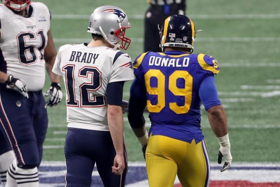 The Rams face a tough ask to come back after losing to Brady and the Patriots (Getty)