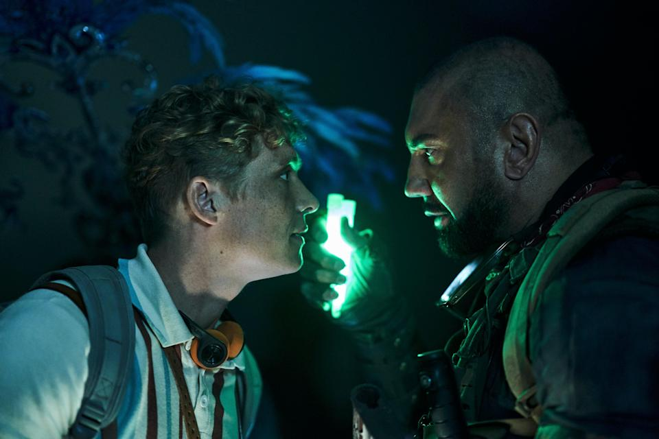 Matthias Schweighofer and Dave Bautista in 'Army of the Dead' (AP)