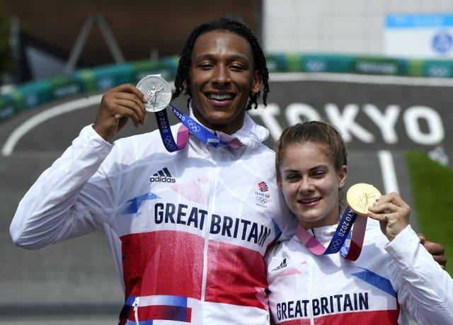 Beth Shriever and Kye Whyte with their medals