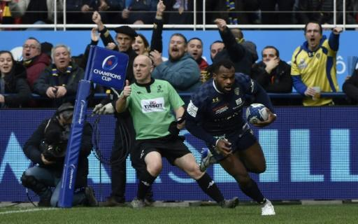 Alivereti Raka scored two of Clermont's eight tries in the victory over Bath