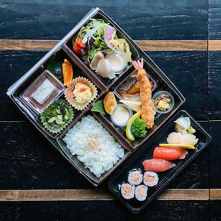 Restaurant n-naka's bento box with sushi. (Courtesy n-naka)