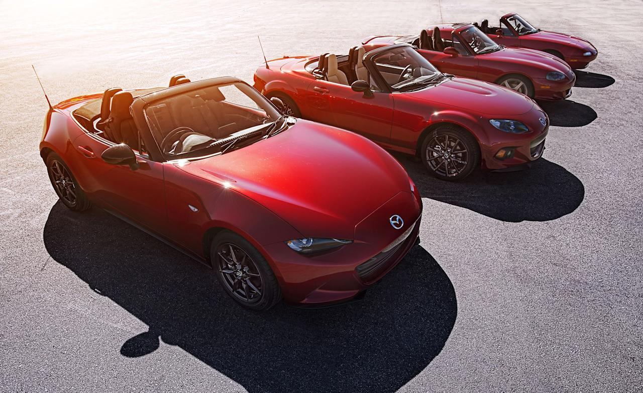 """<p>Despite three full redesigns and a span of 30 years, <u><a rel=""""nofollow"""" href=""""http://caranddriver.com/mazda/mx-5-miata"""">Mazda's MX-5 Miata</a></u> spiritually hasn't changed much since it debuted at the 1989 Chicago auto show. The plucky roadster remains tiny, lightweight, and rear-wheel drive. An  inline-four lives in its nose, two seats live between its axles, and its top goes down. It is a simple, fun, affordable sports car-a key driver behind it becoming the best-selling roadster of all time some years ago. There's a good chance someone you know has one, has had one, or wants one. Where did that magic come from? Follow along our full history of the MX-5 for a hint, and discover a few of the model's desirable special editions and offshoots<br></p>"""