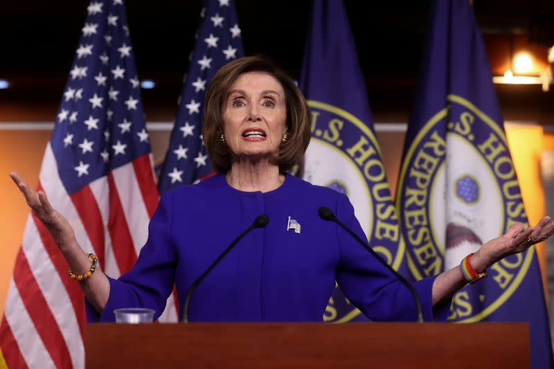 U.S. House Speaker Pelosi holds her weekly news conference at the Capitol in Washington