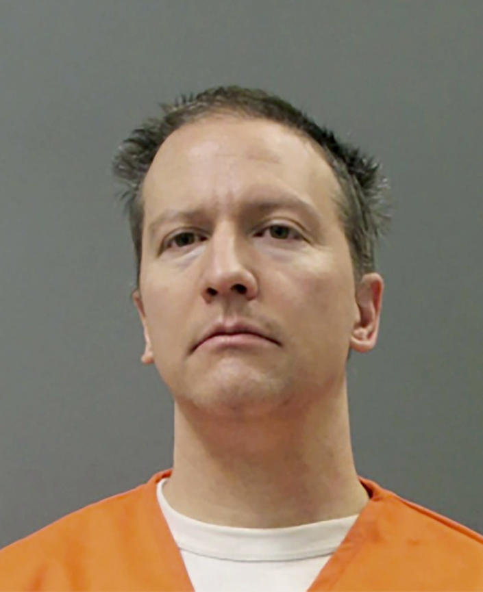 This booking photo provided by the Minnesota Department of Corrections shows Derek Chauvin on Wednesday, April 21, 2021. The former Minneapolis police officer was convicted Tuesday, April 20 of murder and manslaughter in the 2020 death of George Floyd. (Minnesota Department of Corrections via AP)