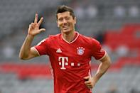 Robert Lewandowski has 10 goals in just five Bundesliga games this season after his hat-trick against Eintracht Frankfurt