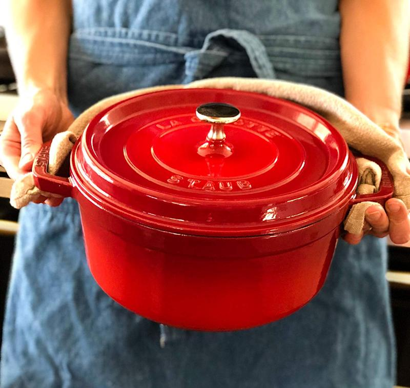 The Staub Cast Iron Cocotte is a classic that chefs of any generation will coo over. (Photo: Amazon)