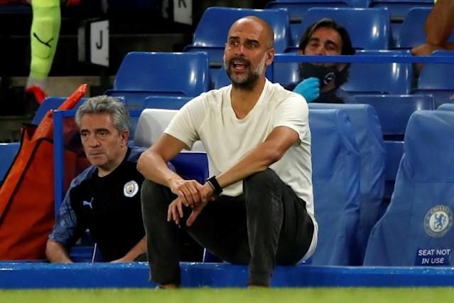 Guardiola's City saw their title defence end with a 2-1 loss at Chelsea (AFP Photo/PAUL CHILDS)