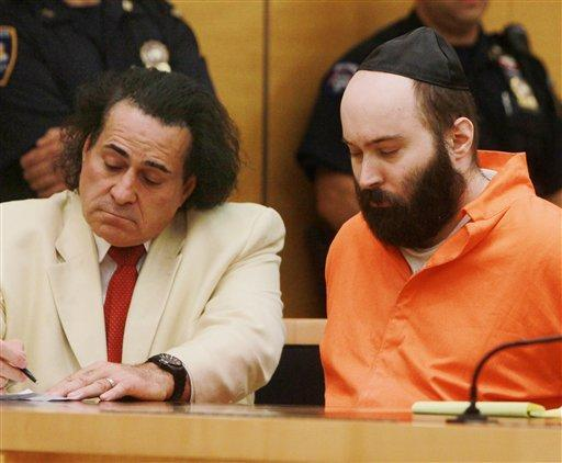 Levi Aron appears in court for sentencing with his lawyer, criminal defense attorney Howard Greenberg.