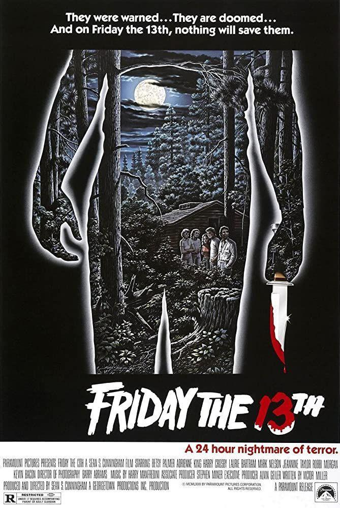 """<p>Jason Voorhees might just be the most classic Halloween costume (er, character) of all time. This first film of the series has the most tension, and is probably the best <em>movie </em>in the series. And you need this one to set every successive film in the decades-long series up.But don't expect that iconic villain to show up just yet. You've got to wait for the sequels for that.</p><p><a class=""""link rapid-noclick-resp"""" href=""""https://www.amazon.com/Friday-13th-Betsy-Palmer/dp/B0095D4VDU/ref=sr_1_3?dchild=1&keywords=FRIDAY+THE+13TH&qid=1603106652&sr=8-3&tag=syn-yahoo-20&ascsubtag=%5Bartid%7C2139.g.32998129%5Bsrc%7Cyahoo-us"""" rel=""""nofollow noopener"""" target=""""_blank"""" data-ylk=""""slk:WATCH HERE"""">WATCH HERE</a></p>"""