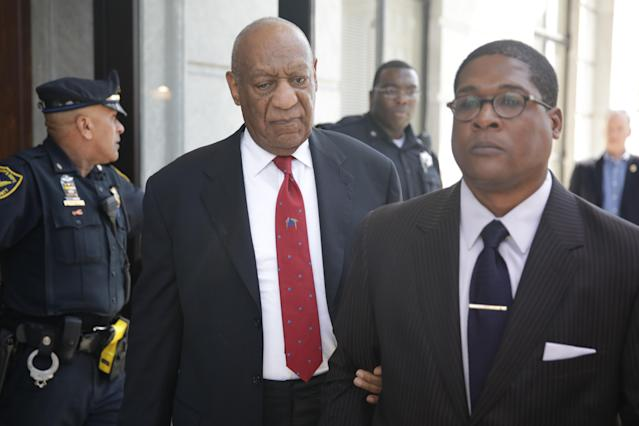 Bill Cosby leaves a Pennsylvania court on April 26, 2018, after being convicted <span>on three counts of aggravated indecent assault</span>. (Photo: Dominick Reuters/AFP/Getty Images)