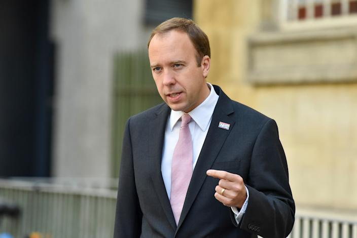 Matt Hancock appears on the BBC's Andrew Marr Show on Sunday (GC Images)