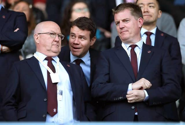 Ross Wilson, centre, was Southampton's director of football operations until October (Nick Potts/PA)