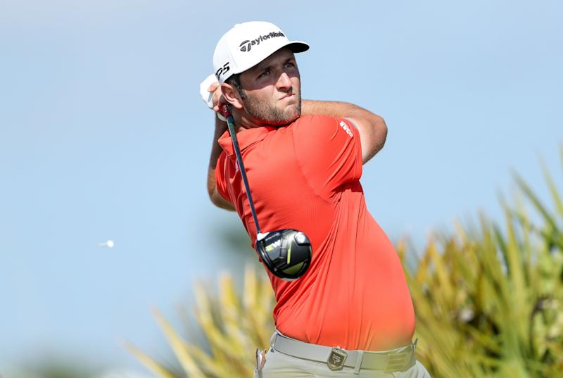 NASSAU, BAHAMAS - DECEMBER 02: Jon Rahm of Spain plays his tee shot on the fourth hole during the final round of the 2018 Hero World Challenge at Albany Bahamas on December 02, 2018 in Nassau, Bahamas. (Photo by David Cannon/Getty Images)