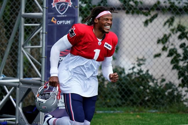 Newton feeling thankful, not pressure taking over as Pats QB