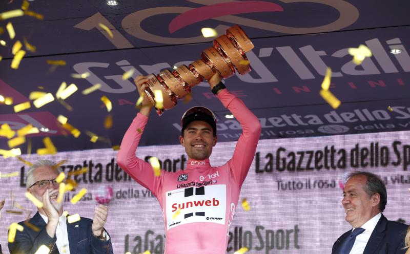 Dumoulin wins Giro d'Italia to claim first grand tour title