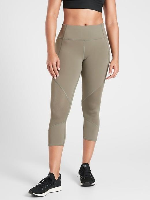 <p>The <span>Athleta Mesh Contender Capri</span> ($65, originally $79) is a supportive, vented pick for high-impact exercises. </p>
