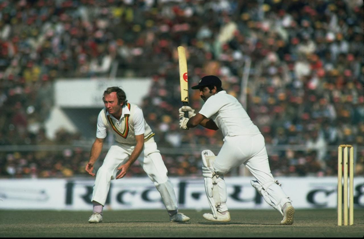 18 Jan 1982:  Gundappa Viswanath of India in action during his innings of 224 during the Fifth Test match against England at Chidambaram Stadium in Madras, India. The match ended in a draw. \ Mandatory Credit: Adrian  Murrell/Allsport