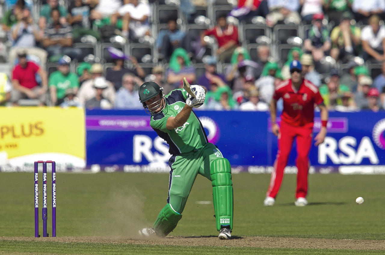 Ireland's Trent Johnston during the One Day International at The Village, Dublin.