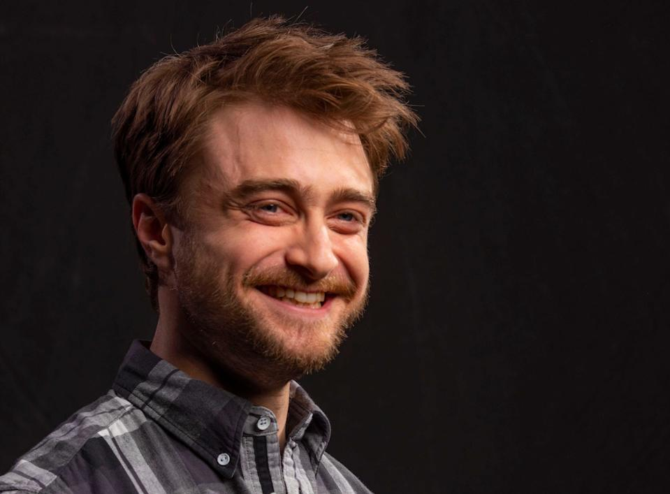 """Daniel Radcliffe talks about his TBS sitcom """"Miracle Workers,"""" on Thursday, Dec. 5, 2019 in New York, NY. (Photo by Robert Deutsch/USA Today Network/Imagn/Sipa USA)"""