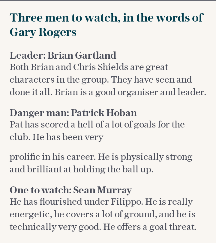 THREE MEN TO WATCH, IN THE WORDS OF GARY ROGERS