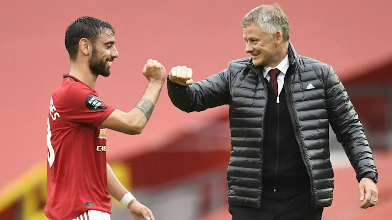 Solskjaer hails Fernandes impact as Manchester United return to the Champions League