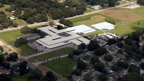 PHOTO: Burns Middle School in Brandon, Fla., is pictured in an image made from aerial video on Aug. 22, 2019. (WFTS)