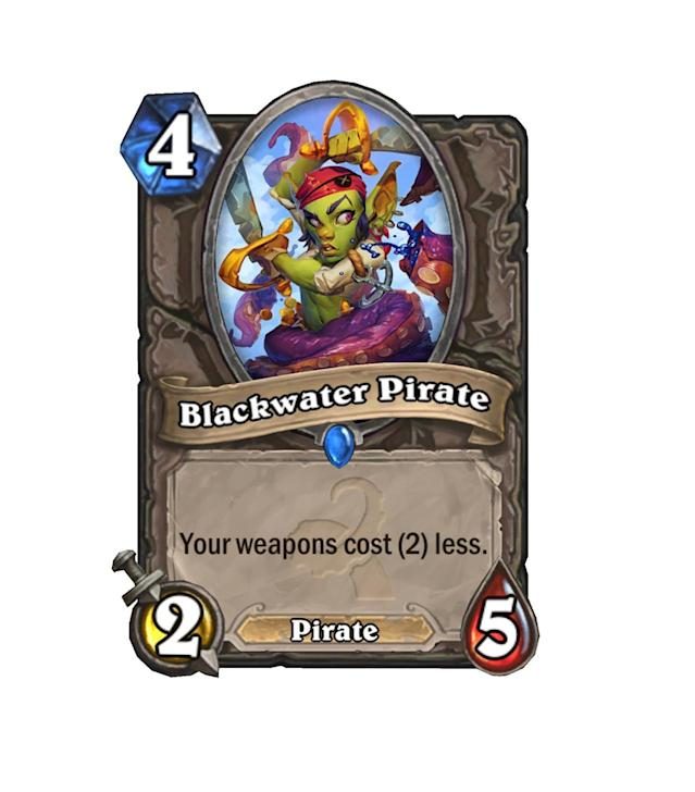<p>Pirate decks have always struggled to get weapons and pirates out efficiently. Blackwater Pirate helps with half of that, assuming you can get it out quickly enough.</p>