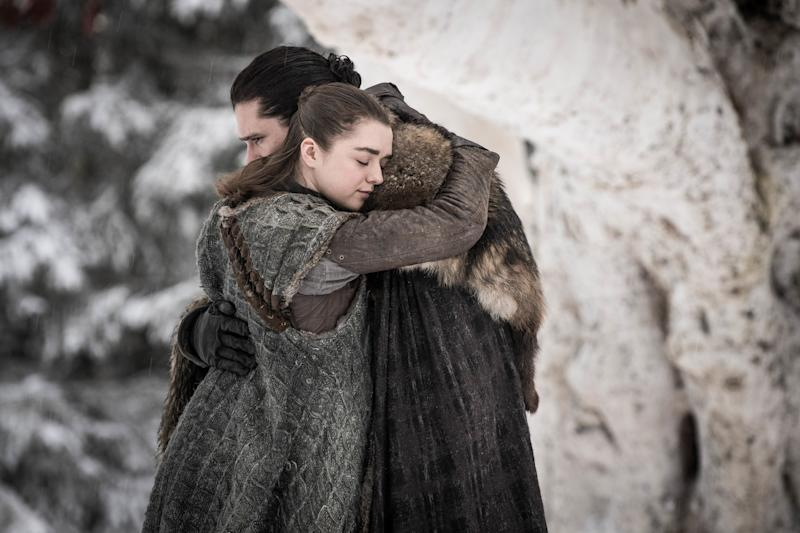 The Hidden Message Behind Arya's and Jon's Hairstyles on   Game of Thrones Last Night