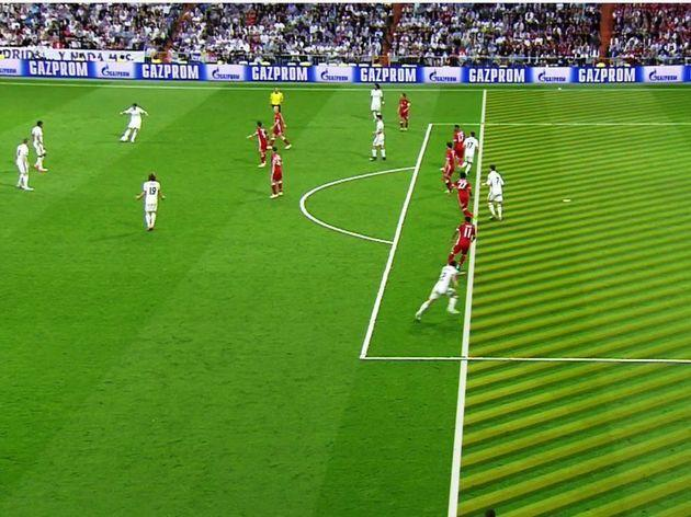 Real Madrid's first offside goal