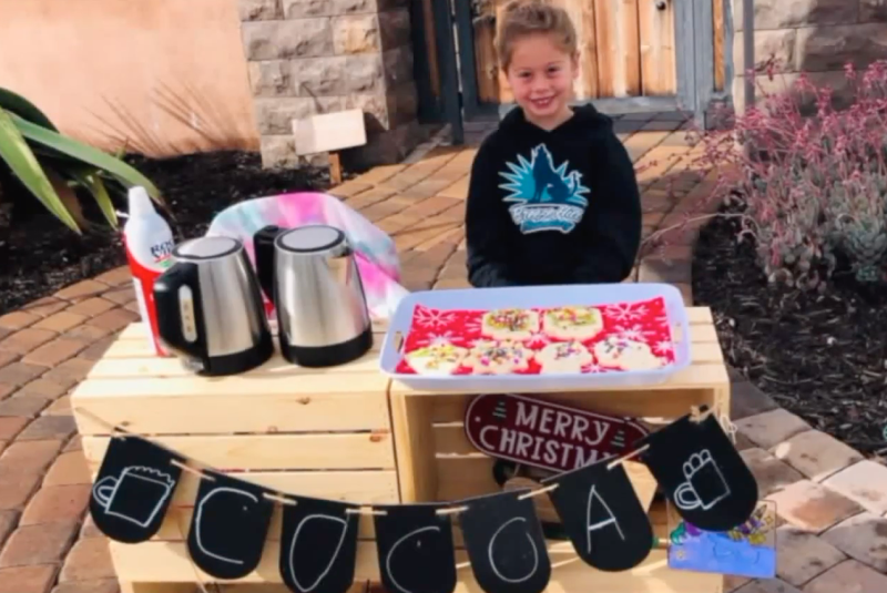 Katelynn Hardee, 5, raised enough money from her business to pay for the lunches of more than 100 students.