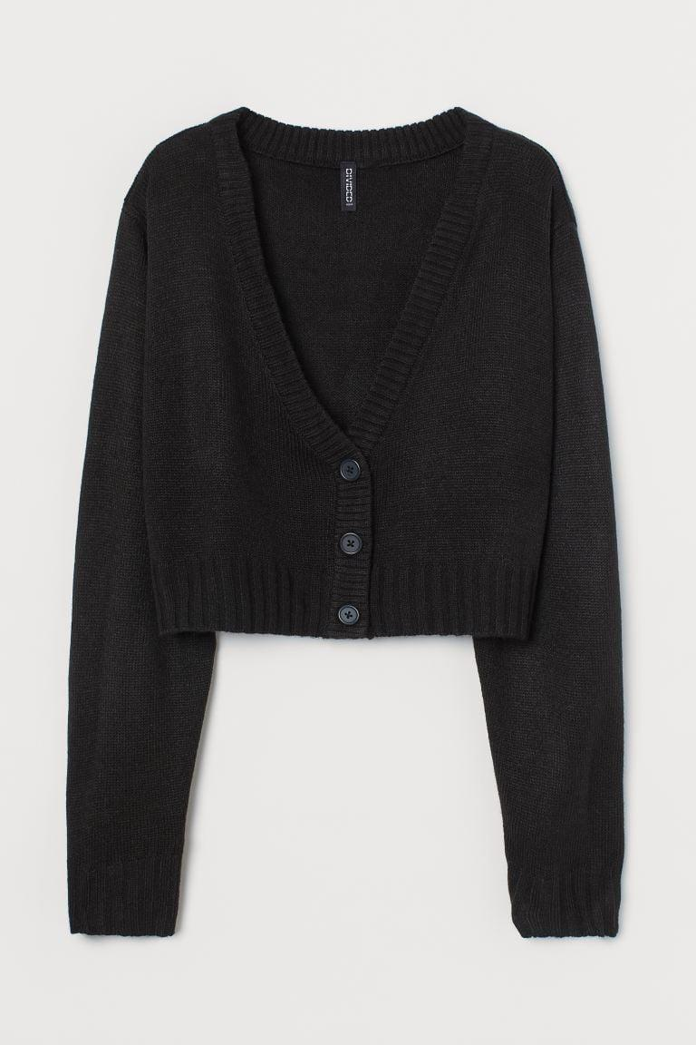 <p>Everyone needs a great black cardigan in their lives. This <span>H&amp;M Short Cardigan</span> ($18) is perfectly cropped.</p>