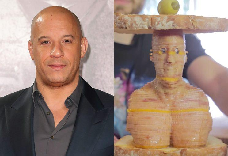 Vin Diesel makes for one interesting sandwich. (Photo: Getty Images/Youtube)