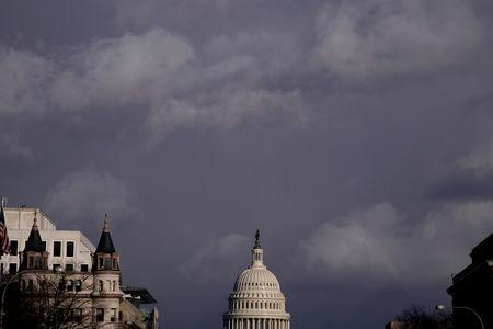 The U.S. Capitol is seen after Special Counsel Robert Mueller reportedly handed in a long awaited report on his investigation into Russia's role in the 2016 presidential election and any potential wrongdoing by U.S. President Donald Trump in Washington, U.S., March 22, 2019. REUTERS/Joshua Roberts