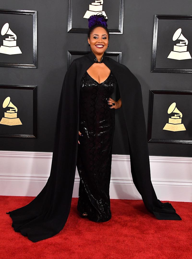 LOS ANGELES, CA - FEBRUARY 12: Singer Lalah Hathaway attends The 59th GRAMMY Awards at STAPLES Center on February 12, 2017 in Los Angeles, California. (Photo by Steve Granitz/WireImage)