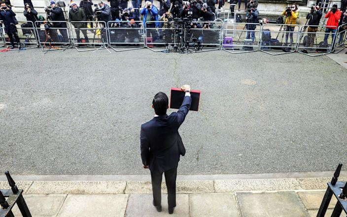 Rishi Sunak leaves 11 Downing Street before the Budget yesterday  - No10 Downing Street