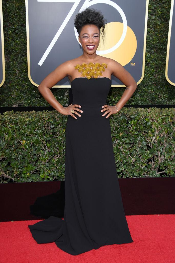 <p><em>The Handmaid's Tale </em>actress attends the 75th Annual Golden Globe Awards at the Beverly Hilton Hotel in Beverly Hills, Calif., on Jan. 7, 2018. (Photo: Steve Granitz/WireImage) </p>
