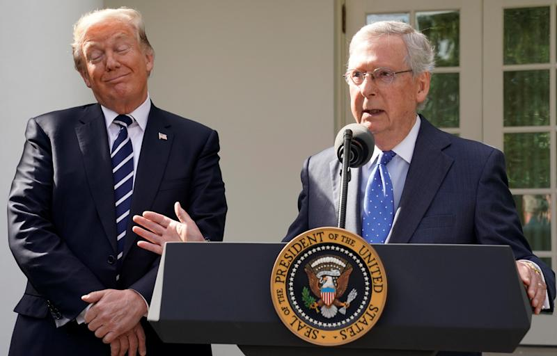 President Donald Trump and Senate Majority Leader Mitch McConnell (R-Ky.), putting tax reform before just about anything else.