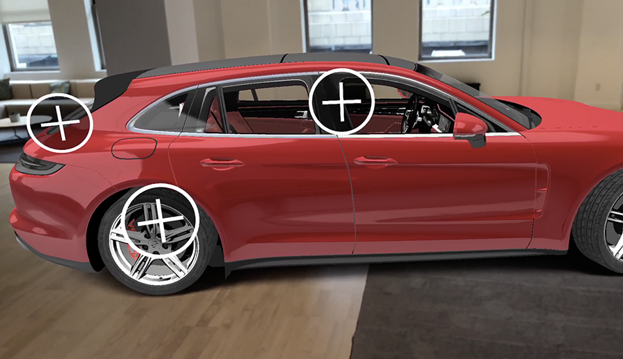The plus signs mar the experience of examining the Porsche in your living room.